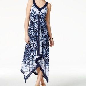Style & Co XXL Handkerchief Boho Sun Dress Blue